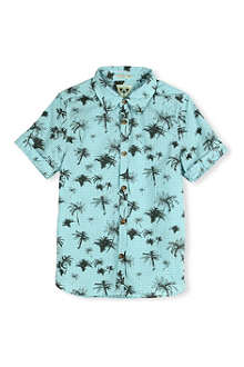 SCOTCH SHRUNK Palm tree and gingham-print shirt 4-16 years