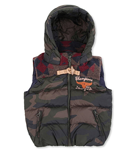 SCOTCH SHRUNK Quilted gilet 4-14 years (Camo