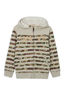 SCOTCH SHRUNK Striped zipped hoody 4-16 years