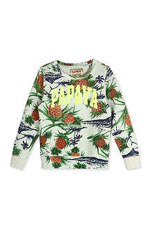 SCOTCH SHRUNK Pineapple-print sweatshirt 4-16 years