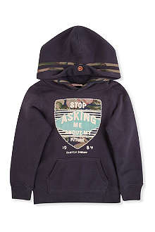 SCOTCH SHRUNK Applique detail hoody 4-14 years