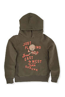 SCOTCH SHRUNK Contrast texture hoody 4-14 years