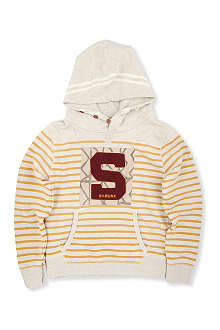 SCOTCH SHRUNK Striped 'S' hoody 4-14 years