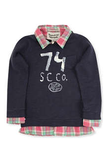 SCOTCH SHRUNK Shirt with bowtie sweatshirt 4-14 years