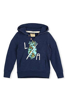 SCOTCH SHRUNK LA pineapple-print hoody 4-16 years
