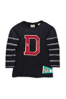 SCOTCH SHRUNK Long-sleeved college logo top 4-14 years