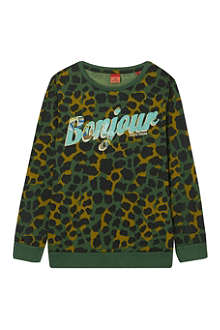 SCOTCH SHRUNK Bonjour long-sleeved t-shirt 4-16 years