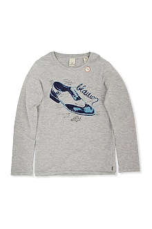 SCOTCH SHRUNK Shoe-print t-shirt 4-14 years