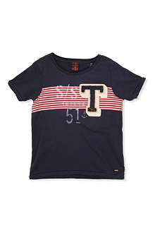 SCOTCH SHRUNK Logo stripe t-shirt 4-14 years