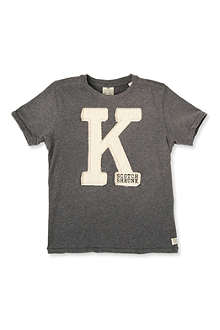 SCOTCH SHRUNK Applique letter t-shirt