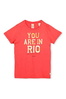 SCOTCH SHRUNK Rio print t-shirt 4-16 years