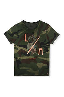 SCOTCH SHRUNK Camouflage-print t-shirt 4-16 years