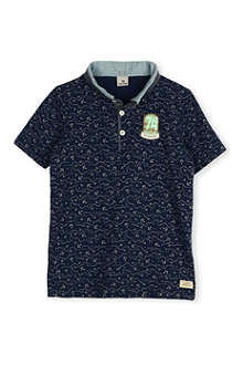 SCOTCH SHRUNK Anchor print polo shirt 4-16 years
