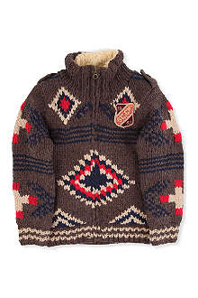 SCOTCH SHRUNK Aztec chunky cardigan 4-14 years
