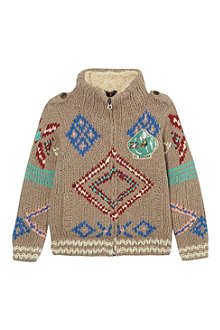 SCOTCH SHRUNK Knitted zip cardigan 4-16 years