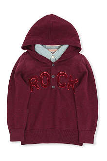 SCOTCH SHRUNK Knit hoody with attached shirt 4-14 years
