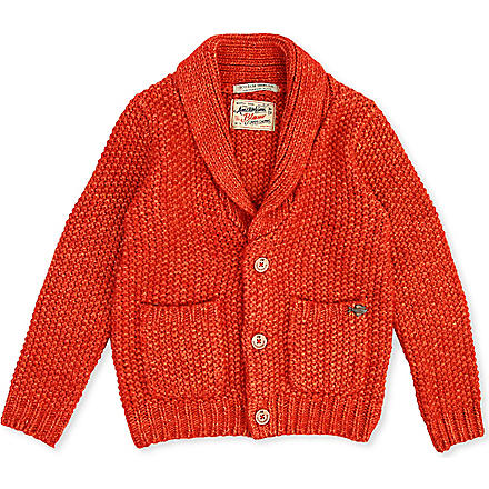 SCOTCH SHRUNK Knitted cardigan 4-16 years (Red