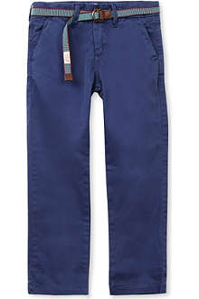 SCOTCH SHRUNK Stretch-cotton chinos 4-16 years