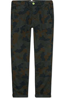 SCOTCH SHRUNK Camouflage print chinos 4-16 years