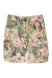 SCOTCH SHRUNK Hawaiian cargo shorts 4-14 years