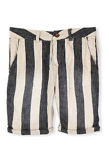 SCOTCH SHRUNK Dessina striped linen-blend shorts 4-16 years