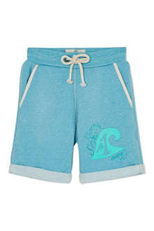 SCOTCH SHRUNK Wave logo sweat shorts 4-16 years