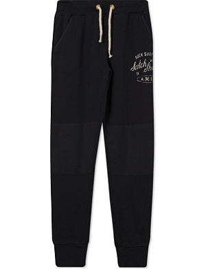 SCOTCH SHRUNK Number logo jogging bottoms 4-14 years