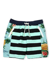 SCOTCH SHRUNK Graphic-print striped swim shorts 4-16 years