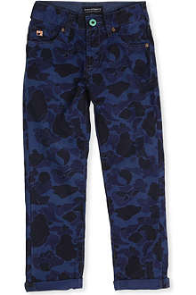 SCOTCH SHRUNK Mercer camouflage slim-fit jeans 4-16 years