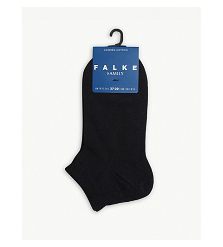 FALKE Family cotton ankle socks (Dark+marine