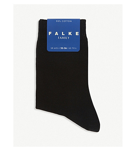 FALKE Family cotton-blend socks (Black