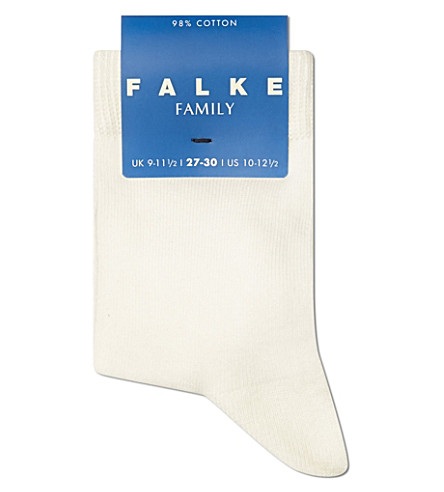 FALKE Classic cotton-blend socks (Cream