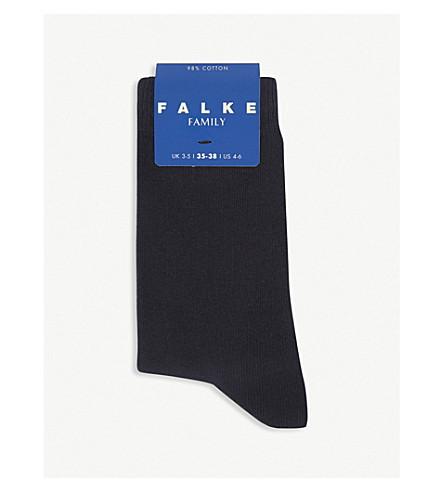 FALKE Family cotton-blend socks (Navy