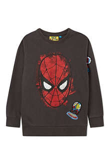 FABRIC FLAVOURS Spiderman badge jumper 3-10 years