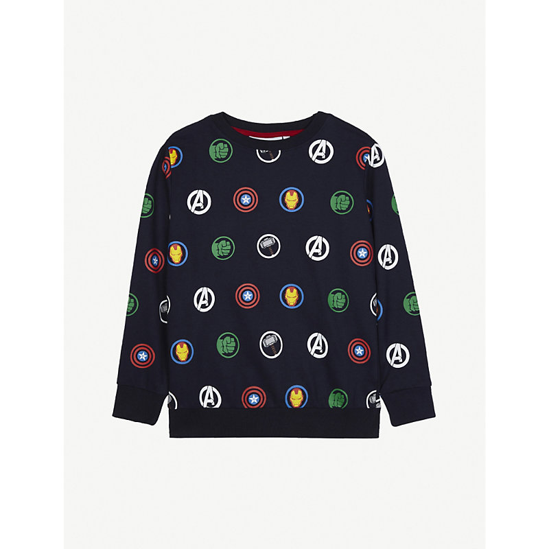 FABRIC FLAVOURS | Avengers Print Cotton Jumper 3-10 Years | Goxip
