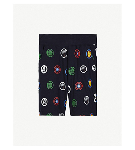 FABRIC FLAVOURS Avengers print cotton shorts 3-10 years (Navy