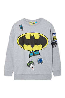 FABRIC FLAVOURS Batman badge sweatshirt 3-10 years