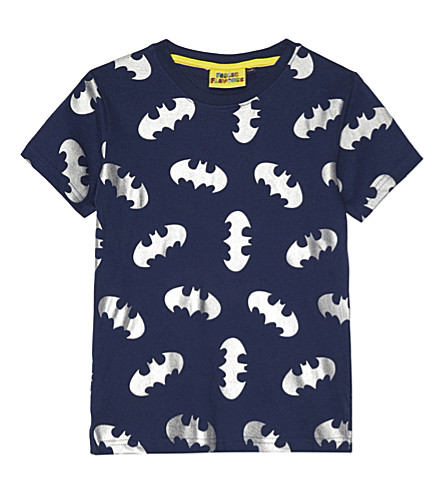 FABRIC FLAVOURS Metallic batman cotton T-shirt 3-10 years (Navy