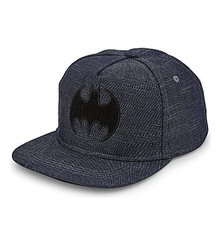 FABRIC FLAVOURS Batman cotton snapback cap (Navy