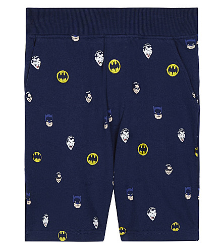 FABRIC FLAVOURS Batman print cotton shorts 3-10 years (Navy