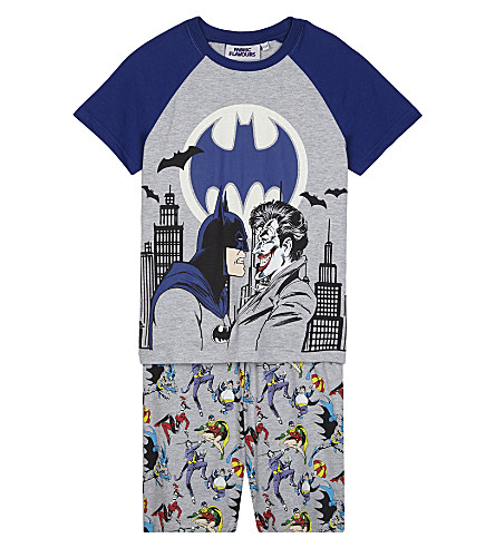 FABRIC FLAVOURS Batman and The Joker print pyjama set 3-10 years (Grey/blue