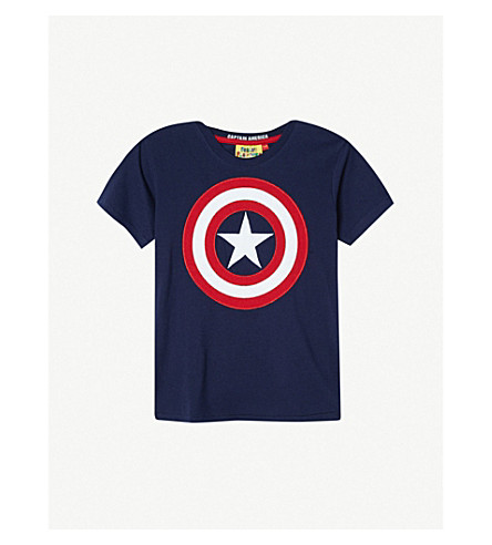 FABRIC FLAVOURS Captain America shield T-shirt 3-8 years (Navy