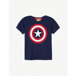 Captain america shield t-shirt 3-8 years