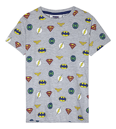 FABRIC FLAVOURS Justice League print T-Shirt 3-10 years (Grey