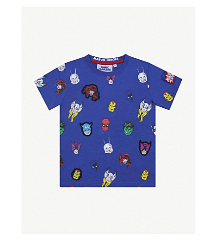 FABRIC FLAVOURS Vintage hero cotton T-shirt 3-8 years (Blue