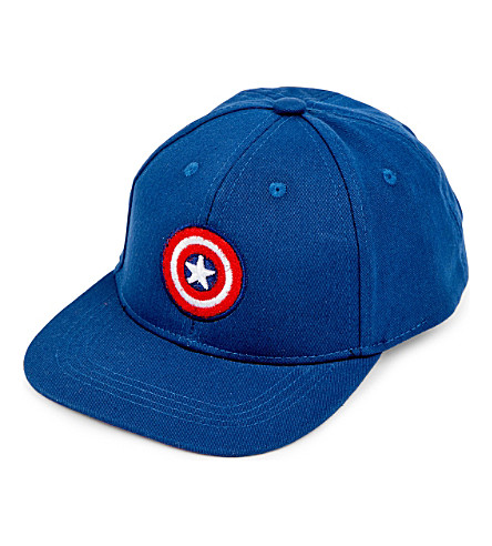 FABRIC FLAVOURS Marvel's Captain America interchangeable badge snapback 5-10 years (Navy
