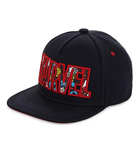 FABRIC FLAVOURS 奇迹超级英雄刺绣 snapback 帽 (海军