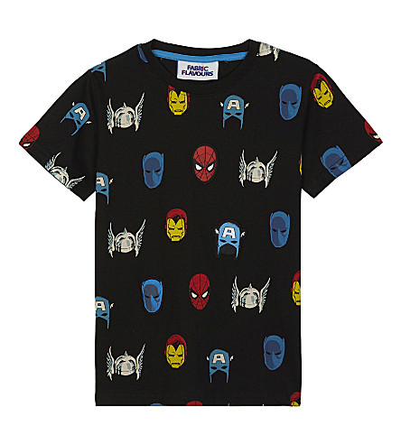 FABRIC FLAVOURS Marvel heroes cotton T-shirt 3-10 years (Black