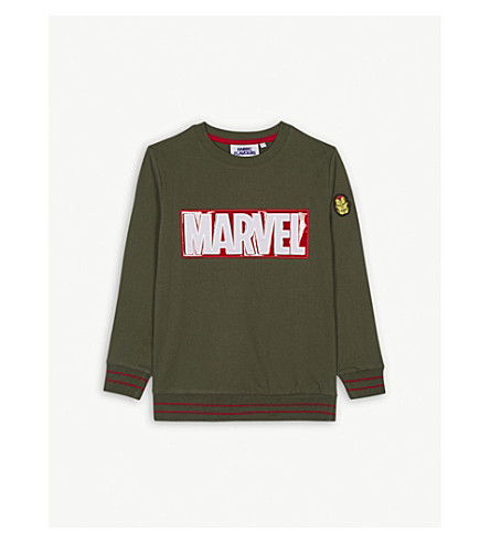 FABRIC FLAVOURS Marvel cotton jumper 3-10 years (Green