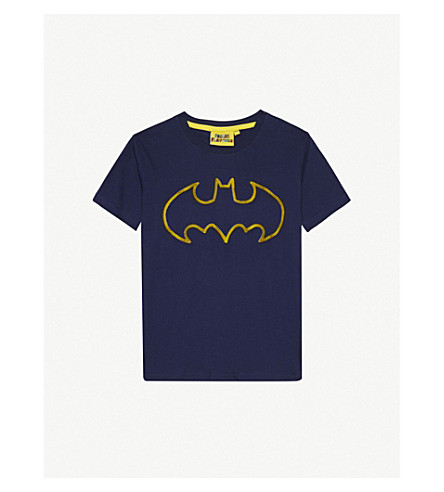 FABRIC FLAVOURS Batman cotton T-shirt 3-10 years (Navy